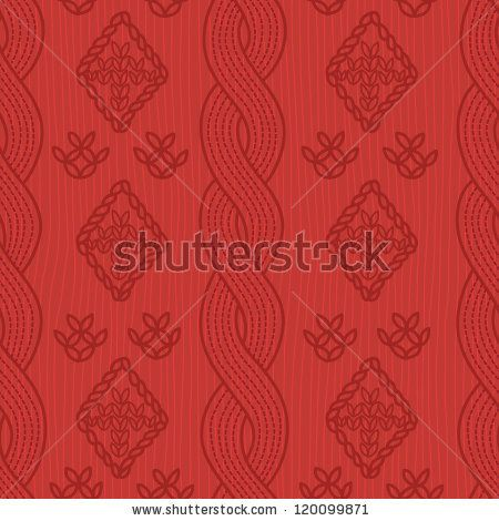 Seamless pattern with knitting elements - stock vector