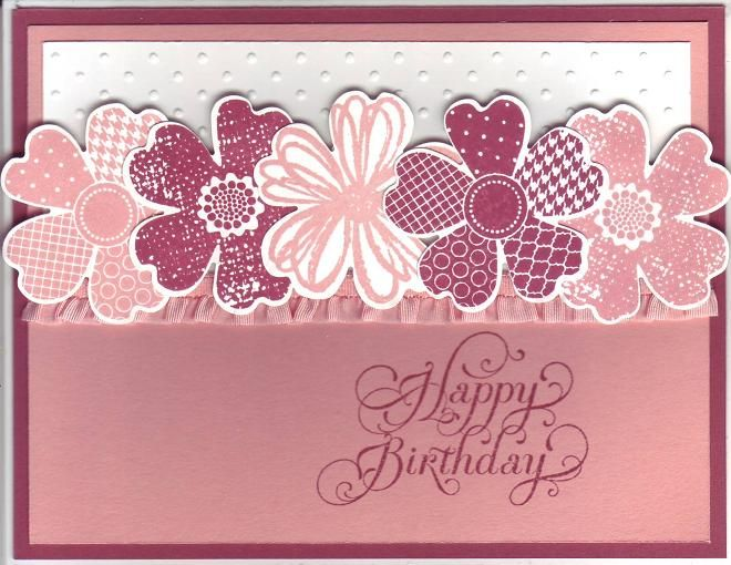 Cranberry Crisp Cantaloupe Bday by Stampin Wrose - Cards and Paper Crafts at…