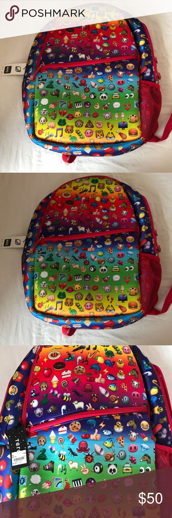 ZARA TEREZ SCHOOL BACKPACK***EMOJI***Large**$71.50 Zara Terez. All over emoji bag. Cushiony material, great for also putting laptops in. Very large and spacious. Great for BACK TO SCHOOL!!!! This bag is perfect for so many different ages. All over emojis!!!! Tags all still attached. Retails for $71.50 + Tax Zara Terez Accessories Bags