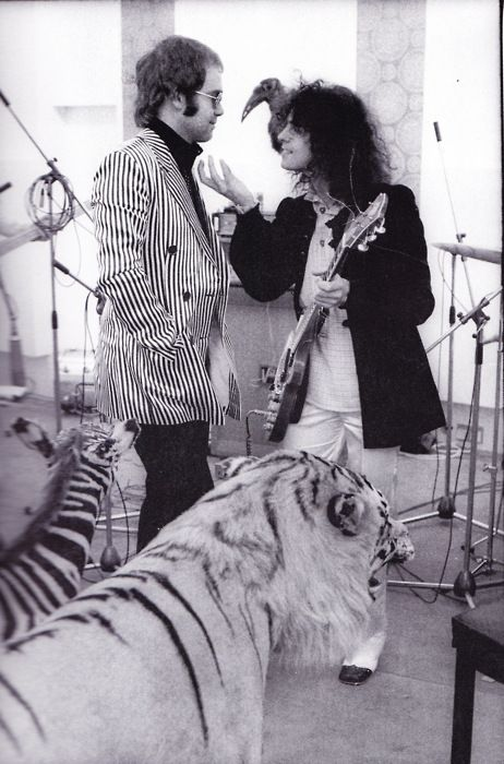 Elton John and Marc Bolan of T-Rex