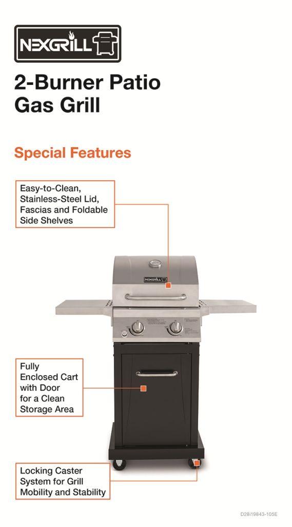 nexgrill small space 2burner propane gas grill - Small Gas Grills