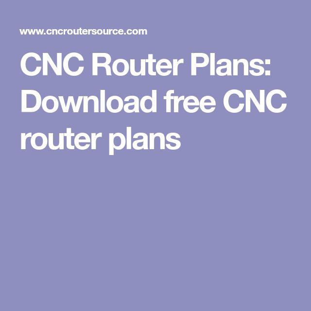 cnc router plans free pdf