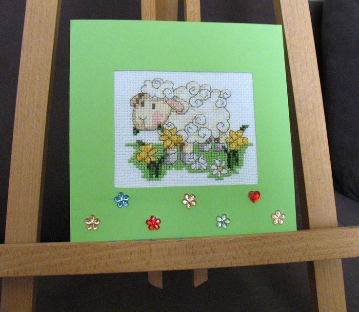 Wielkanoc Easter Oster Karta Z Kopertą Baranek Rękodzieło Handmade B2 | eBay