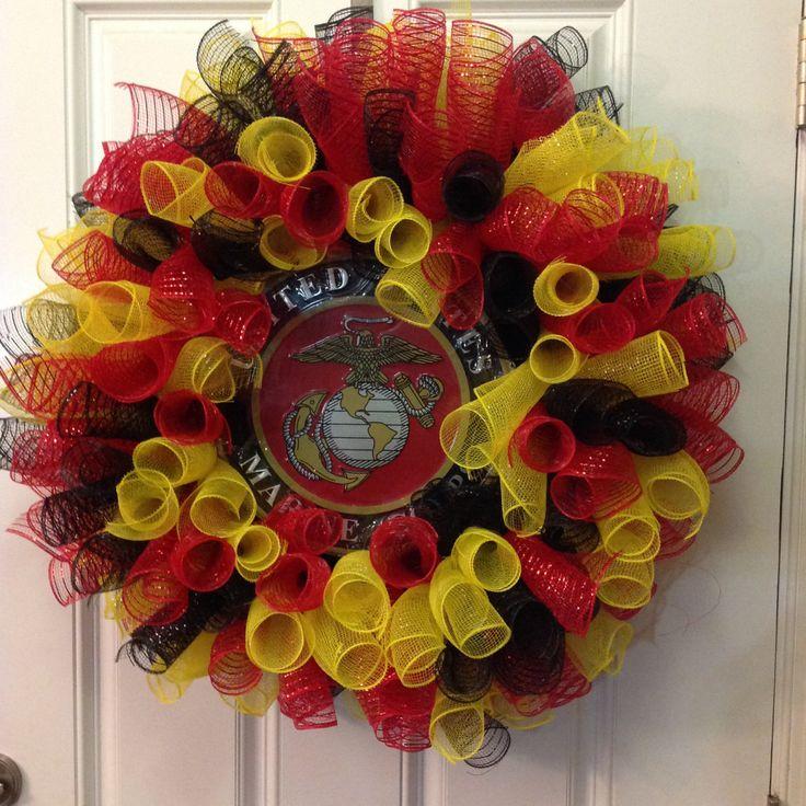 USMC Wreath by CreationsbyLSWash on Etsy
