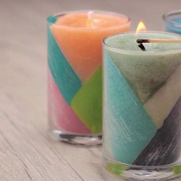 Make Your Own Color Block Crayon Candles | Creative and Simple DIY Project Perfect for Gifts.
