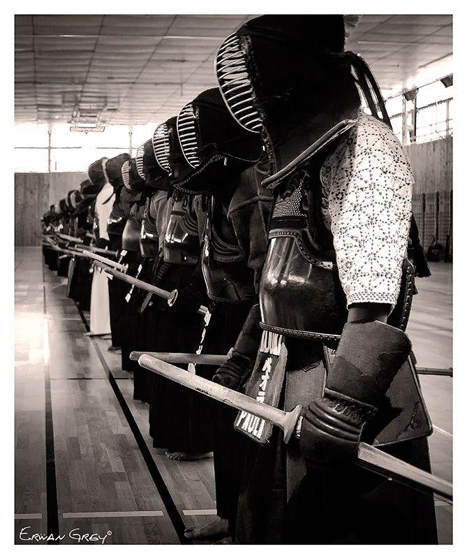♂ Japanese martial art Kendo black & white photography