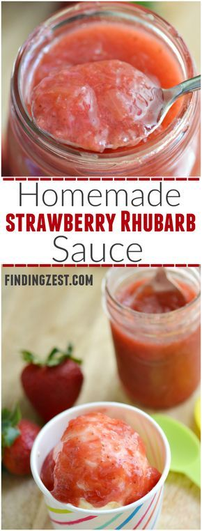 Easy Homemade Strawberry Rhubarb Sauce: Enjoy the sweetness of strawberries and tartness of rhubarb in this Homemade Strawberry Rhubarb Sauce. Try it as a topping for ice cream or pancakes! Trust me, it is absolutely delicious!!!