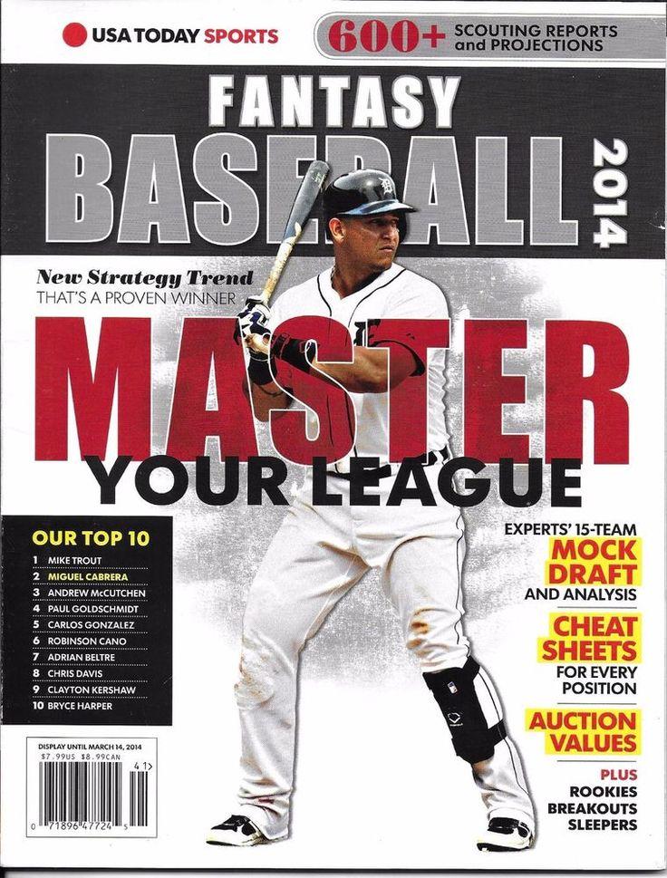 USA Today Fantasy Baseball magazine Mock draft Cheat sheets Action values Report
