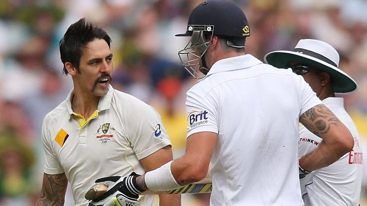 Mitchell Johnson and Kevin Pietersen