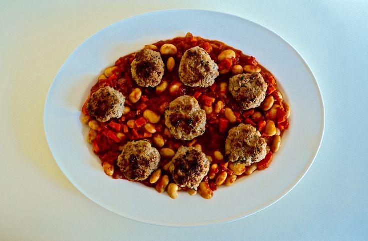 Gluten Free Lamb Meatballs & Tomato Cannellini Beans