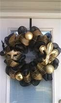 Home Decor - Wreaths and Door Decor! - New Orleans Saints Wreath