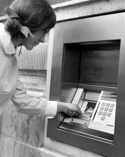 U.S. On September 2, 1969, the first automatic teller machine to use magnetic-striped cards opened to the public at Chemical Bank in Rockville Centre, New York.