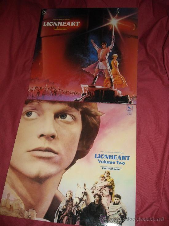 LIONHEART Y LIONHEART COLUME TWO LP 2 BANDAS SONORAS MUSICA JERRY GOLDSMITH 1987 VARESE
