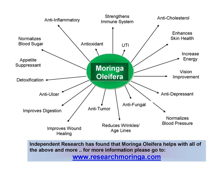 Awesome  different categories of what Moringa Oleifera can help with for more