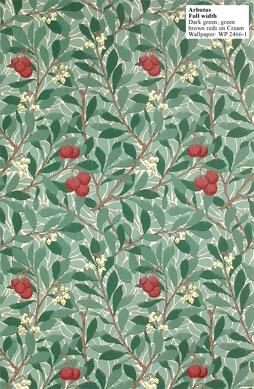 Historic Style - Arbutus by William Morris Yes! We have this in our upstairs hallway - and 20 years later, it remains exquisite ...