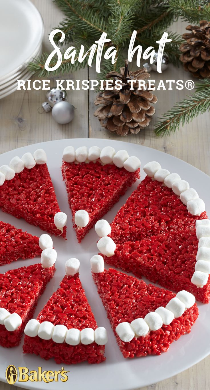 Santa Hat RICE KRISPIES TREATS® – Up your dessert game this holiday season with these festive RICE KRISPIES TREATS®. Making these creative treats may just become your new favorite holiday tradition with your family.