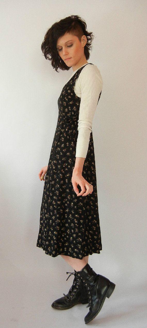 Vintage Grunge Dress Floral Witch Jumper by littleraisinvintage, $17.00