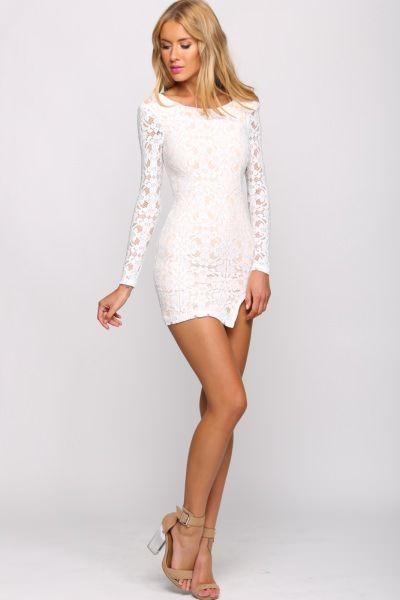 Nude Beach Dress White