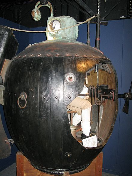 Turtle (submersible) - The first submarine used in the US Revolutionary War