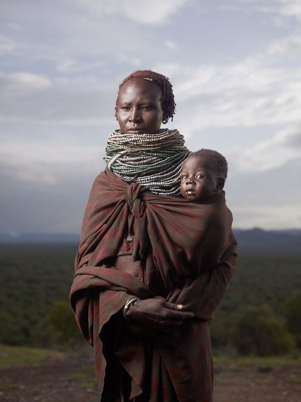 Karo Mother and Child at Sunrise