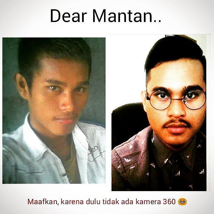 Dear Mantan Maafkan aku yang dulu karena tidak ada Kamera 360 .. . Hahahha.. . . #vsco #vsocam #dearmantan #missyou #justforlaughs #humor #likeforlike #like4like #awesome #haha #mystyle by hajriadimahik