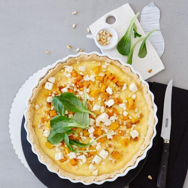 Rezept: Quiche mit Butternusskürbis von Zucker, Zimt & Liebe Rezept - [LIVING AT HOME]