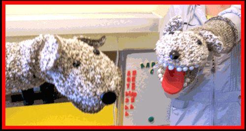 """Дидактическая логопедическая игрушка """"Собака Лайка и ее щенок Бобик"""""""