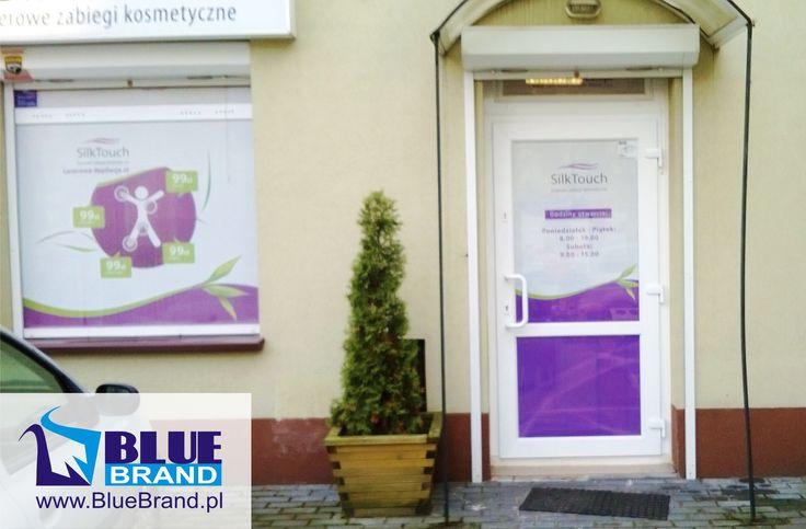folia OWV na okno i drzwi - projekt i wykonanie www.BlueBrand.pl #BlueBrand #AgencjaReklamowa #reklama