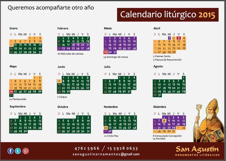 san agustin ornamentos argentina: CALENDARIO LITURGICO 2015