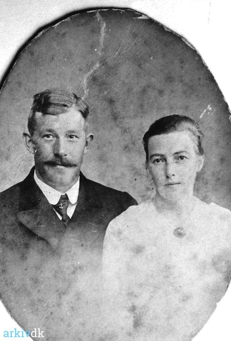 arkiv.dk | Alfred Jensen Gårdbo 1893 - 1928 hustru Anne Kristine 1890 - 1950