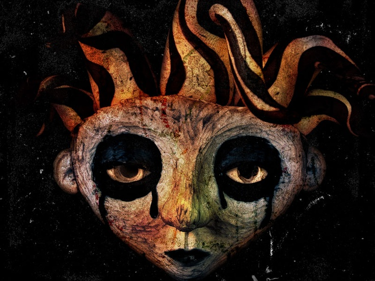Lágrimas de Arlequín.  30x40 cm.  Escultura, fotografía y edición digital.