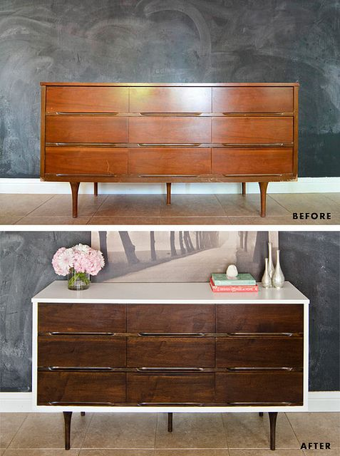 Before & After Mid Century Modern Dresser by Wills Casa, via Flickr