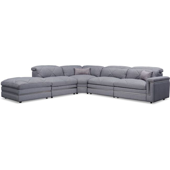 Revel 4 Piece Dual Power Reclining Sectional With Ottoman And 2