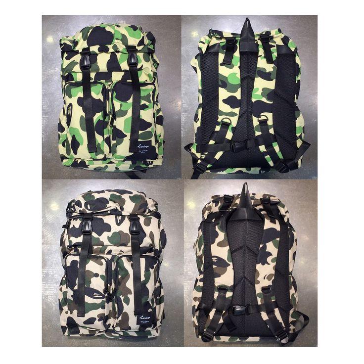 Korea Big CAMO Backpack School Travel Business Bag Polyester Big Size Outdoor
