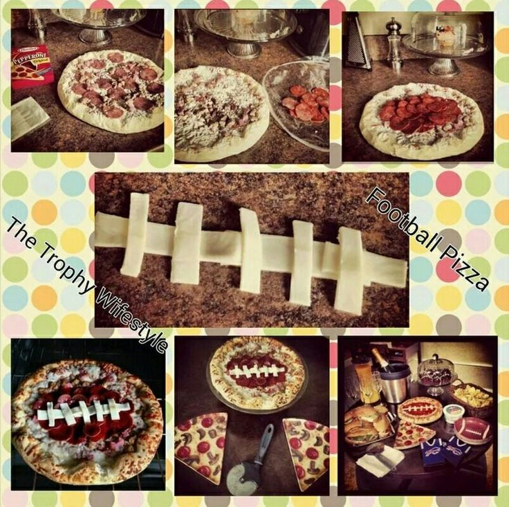 Easy DIY Football Pizza for your game-day party!