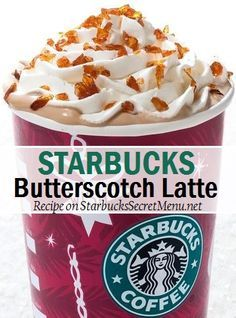 Mmm warm up with a Butterscotch Latte! A Starbucks Secret Menu Holiday special!