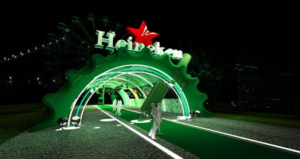 Exhibition Booth For Sale : Space d heineken event on behance exhibition booth