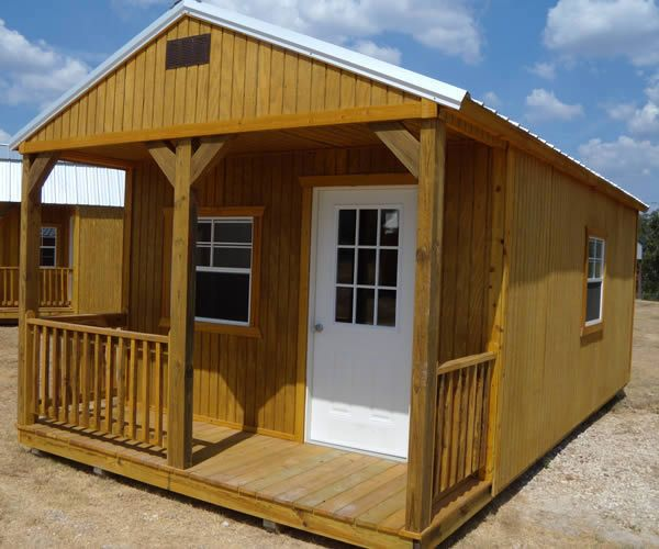 Derksen Portable Treated Cabin With Porch. Visit Www