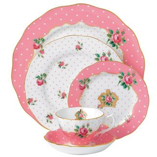 "NEW for 2013 ""New Country Roses Cheeky Pink"" www.royalalberpatterns.com  NOT POLKA DOT - BUT LOOKS ALIKE :)) CUTE NAME TOO!"