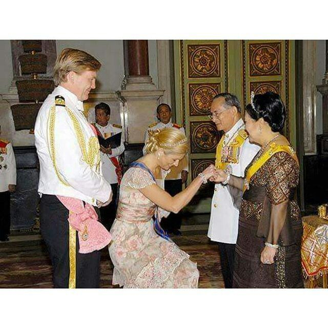 The Danish king and Queen in Thailand.