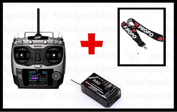 Free shipping 2.4G 9ch system Radiolink AT9 rc radio Transmitter & Receiver TX + R9DS RX for Drone remote control Helicopter