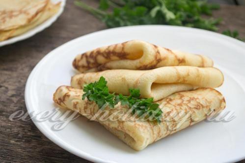 Блинчики из картофельного пюре