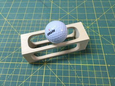 DIY Impossible Golf Ball in a Cage Puzzle Project from # ...