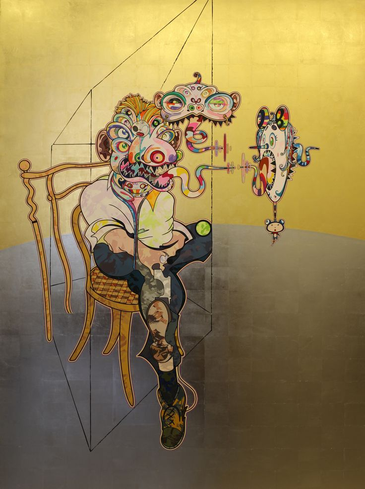 """Homage to Francis Bacon"" 2016 de Takashi MURAKAMI - Galerie Perrotin © Photo Éric Simon"