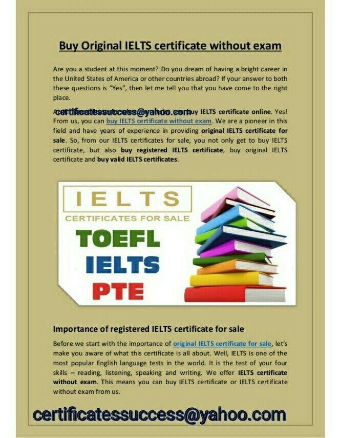 Buy Valid Ielts And Toefl Certificates Australia Ielts Take Exam Exam