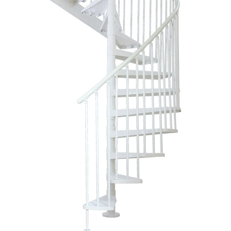 Best Dolle Stockholm 61 In X 10 5 Ft Powder Coat White Spiral 400 x 300