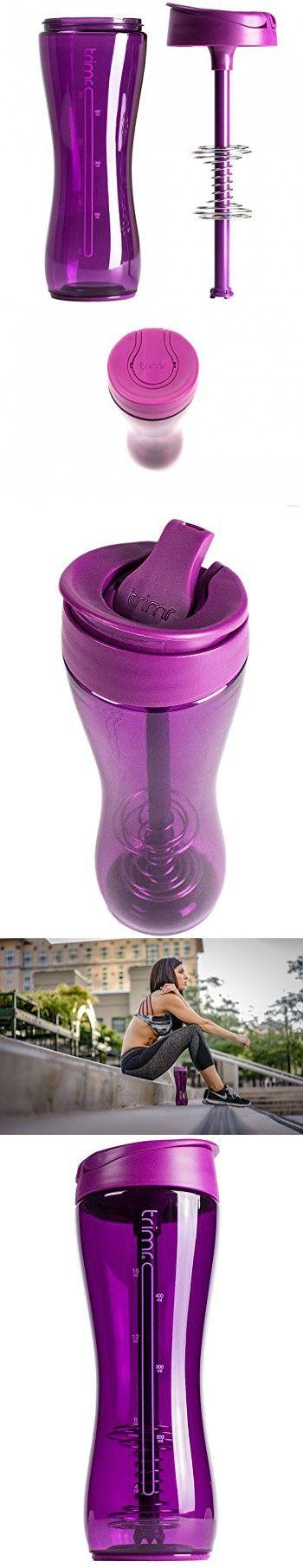 TRIMR Duo 24oz Plum - Shaker Bottle Tritan BPA-Free Straw Hydration Shaker Cup Protein Shakes