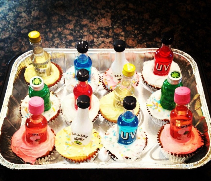 Made these for a friend's 21st. Use the individual's favorite alcohol varieties rather than one certain type: Friends, Individual S Favorite, Clever Ideas, Friend S 21St, Favorite Alcohol, Alcohol Varieties