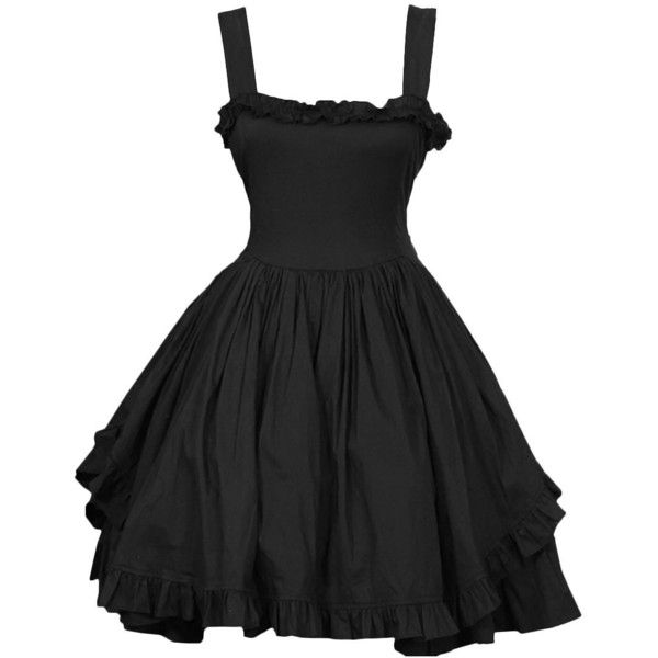 Partiss Women's Sundresses Lovely Straps Gothic Lolita Dress (100 AUD) ❤ liked on Polyvore featuring dresses, gothic lolita dress, strappy sundress, strappy dress, gothic clothing dresses and goth dresses