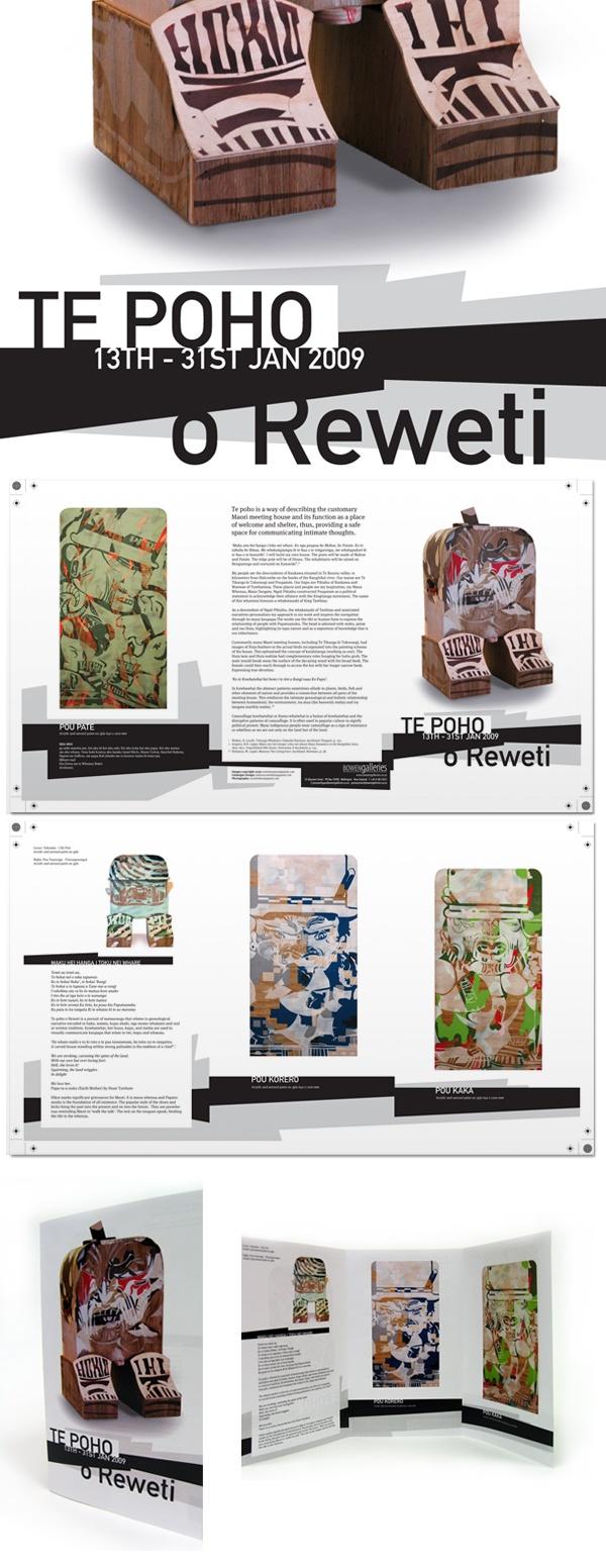 Catalogue for artist Reweti Arapere